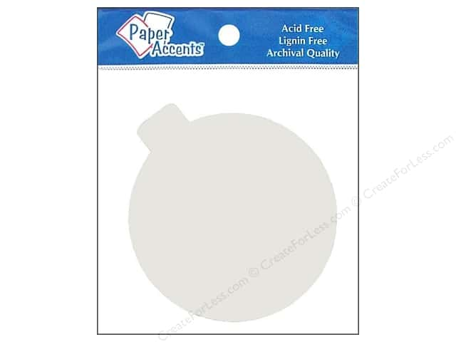 Paper Accents Chipboard Shape Ornament 8 pc. White