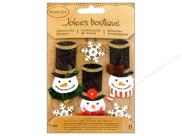 Jolee's Boutique Stickers Glittered Snowmen