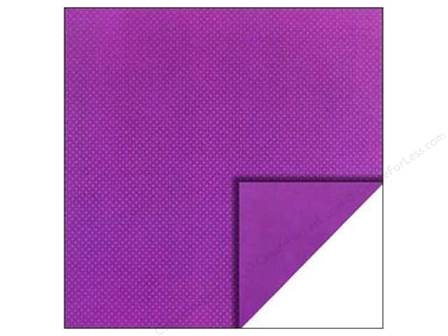Bo Bunny 12 x 12 in. Paper Double Dot Collection Grape (25 sheets)