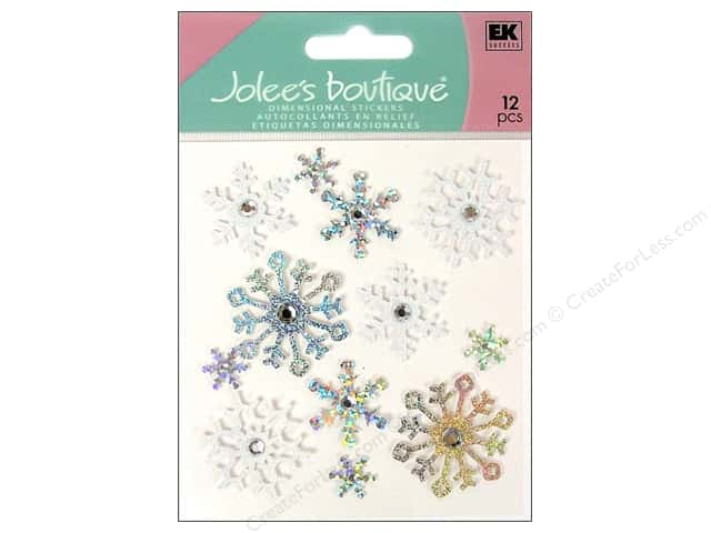 Jolee's Boutique Stickers Glitter Snowflake