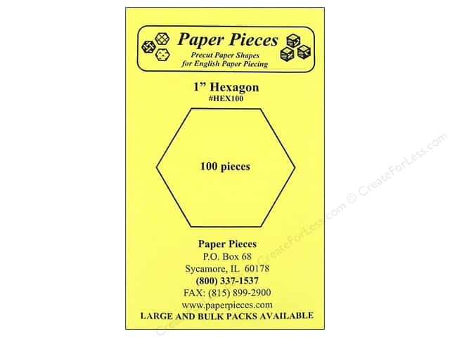 Paper Pieces Precut Paper Shapes Hexagon 1 in. 100 pc.