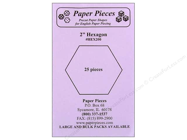 Paper Pieces Precut Paper Shapes Hexagon 2 in. 25 pc.