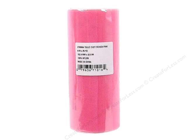 Offray Tulle 6 in. x  25 yd. French Pink (25 yards)