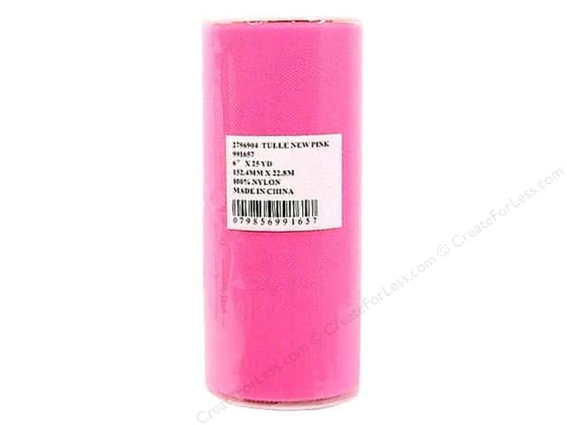 Offray Tulle 6 in. x  25 yd. New Pink (25 yards)