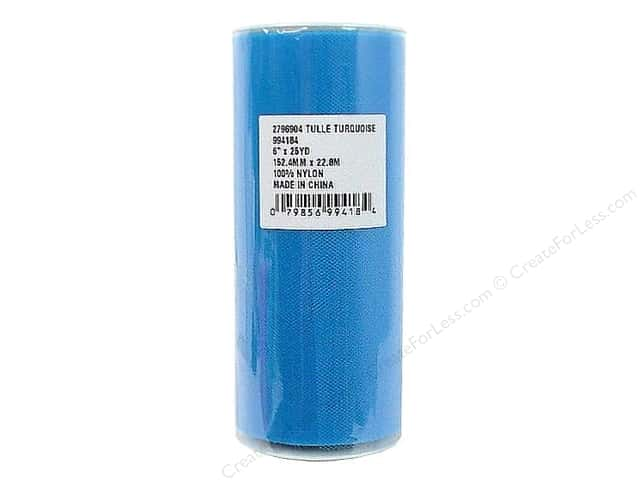 Offray Tulle 6 in. x  25 yd. Turquoise