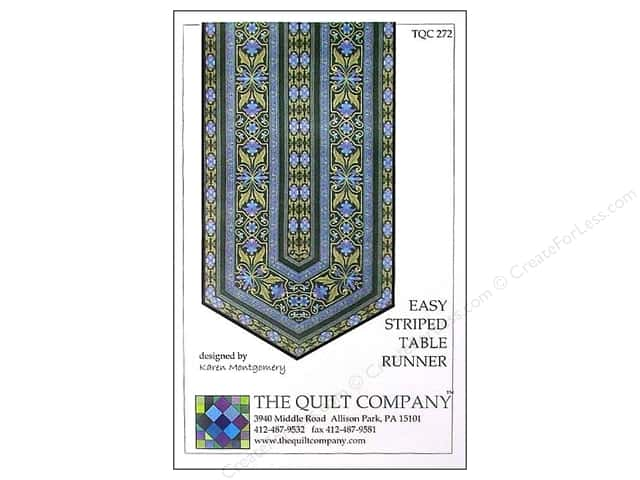 The Quilt Company Easy Striped Table Runner Pattern