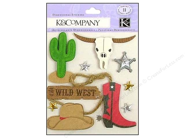 K & Company Stickers Dimensional Cowboy
