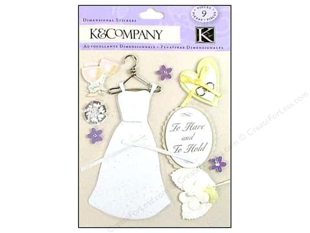 K&Company Stickers Dimensional Classic Wedding