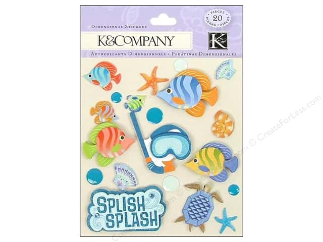 K&Company Stickers Dimensional Splish Splash