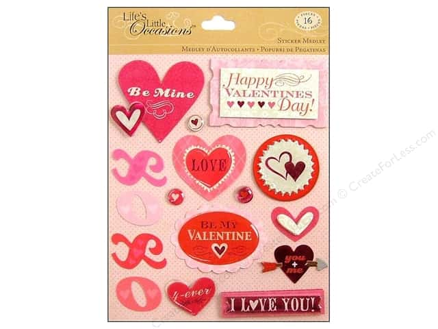 K&Company Stickers Life's Little Occasions Valentine's Day