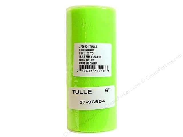 Offray Tulle 6 in. x  25 yd. Citrus (25 yards)