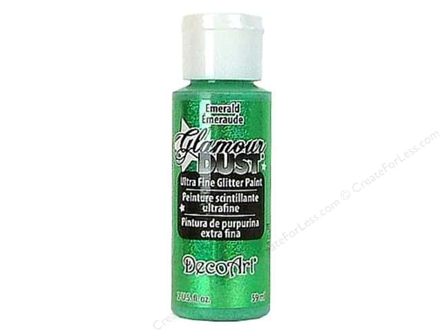 DecoArt Glamour Dust Ultra Fine Glitter Paint 2 oz. Emerald