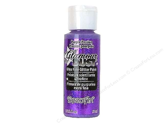 DecoArt Glamour Dust Ultra Fine Glitter Paint 2 oz. Purple Passion