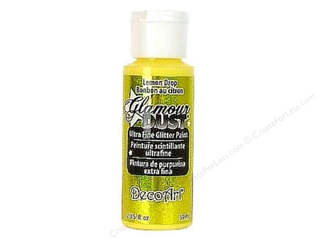 DecoArt Glamour Dust Ultra Fine Glitter Paint 2 oz. Lemon Drop