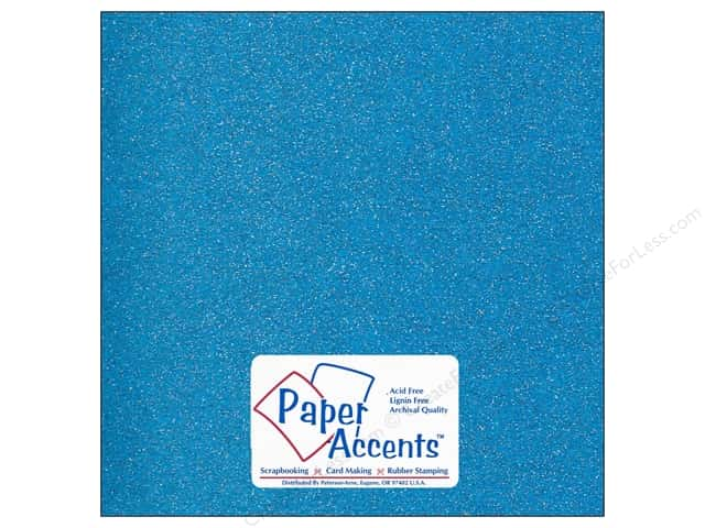 Cardstock 12 x 12 in. #5114 Glitz Silver/Malibu by Paper Accents (25 sheets)