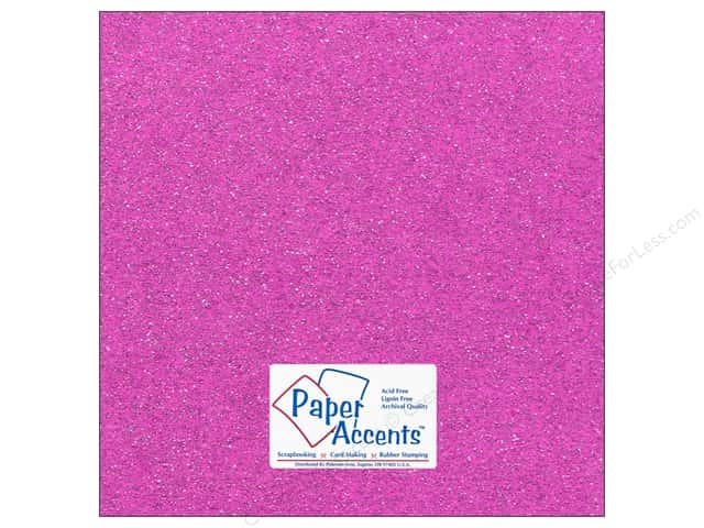 Paper Accents Cardstock 12 x 12 in. #5115 Glitz Silver/Sugar Plum (25 sheets)