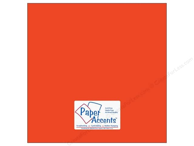 Paper Accents Cardstock 12 x 12 in. #10098 Stash Builder Tangerine (25 sheets)