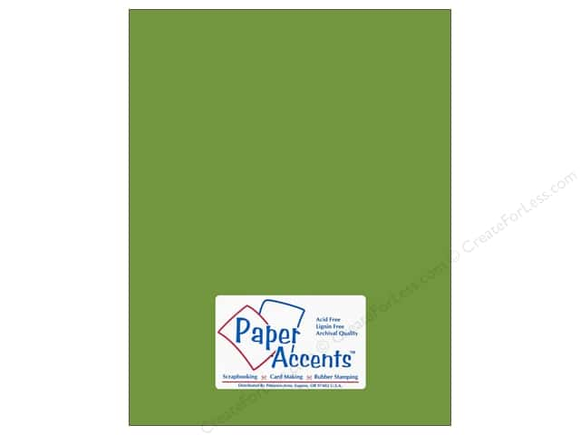 Cardstock 8 1/2 x 11 in. #10105 Stash Builder Green Parrot by Paper Accents (25 sheets)