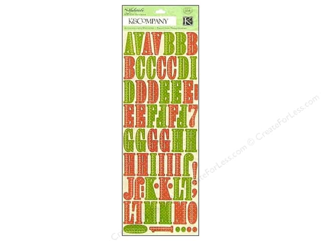 K & Company Stickers Die Cut Yuletide Alphabet