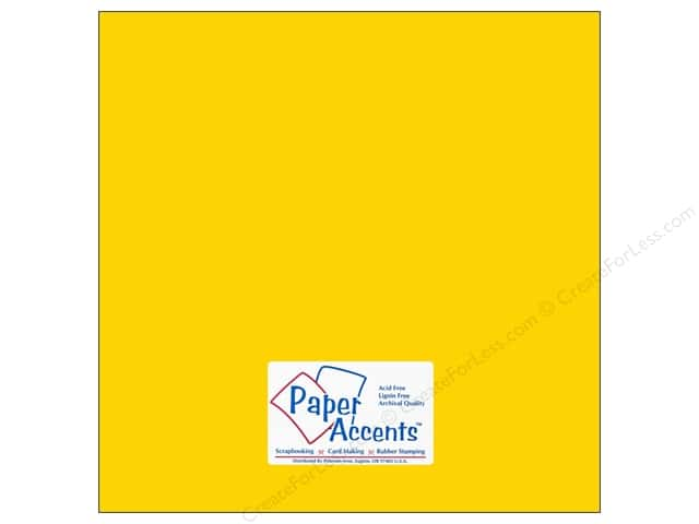 Cardstock 12 x 12 in. #10103 Stash Builder Daffodil by Paper Accents (25 sheets)
