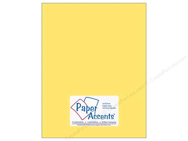 Cardstock 8 1/2 x 11 in. #10101 Stash Builder Buttercup by Paper Accents (25 sheets)