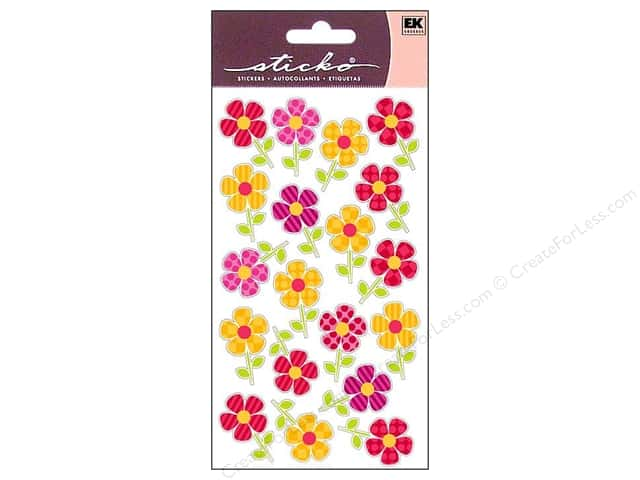 EK Sticko Stickers Repeats Fun Flower