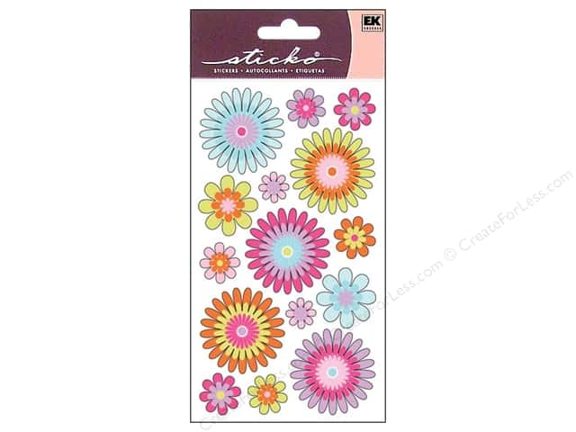 EK Sticko Stickers Vellum Playful Blooms