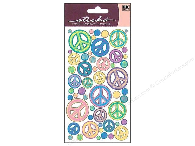 EK Sticko Stickers Sketchy Peace Signs