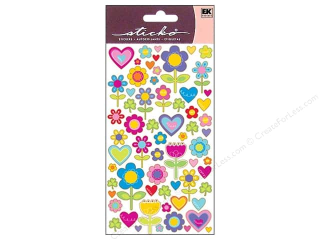 EK Sticko Stickers I Love Flowers