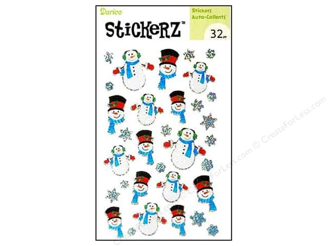 Darice Sticker Snowman 32pc