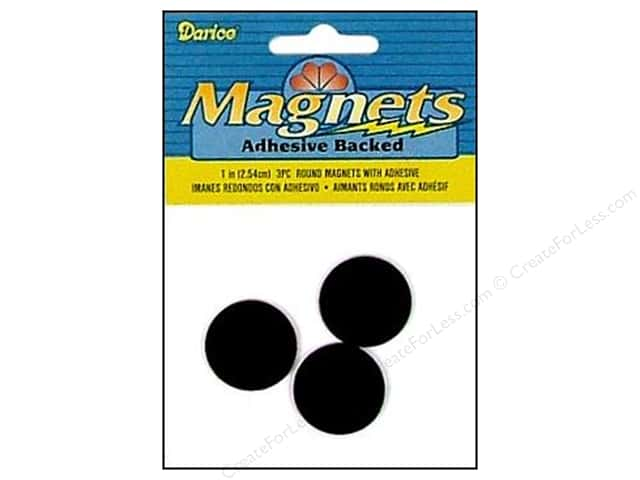 Darice Adhesive Back Magnets 1 in. Round 3 pc.