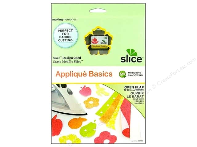 Slice Design Card Making Memories MS+ Applique Basics