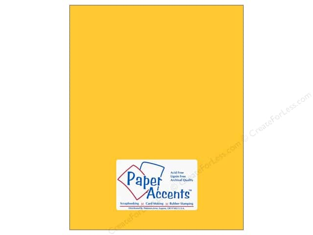 Cardstock 8 1/2 x 11 in. #105 Smooth Canary Yellow by Paper Accents (25 sheets)