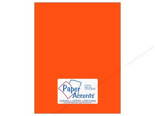 Paper Accents Cardstock 8 1/2 x 11 in. #109 Smooth Electric Orange (25 sheets)