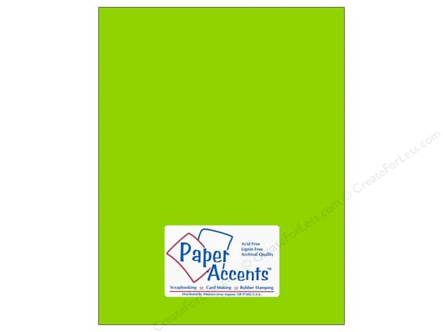 Paper Accents Cardstock 8 1/2 x 11 in. #113 Smooth Lime Green (25 sheets)