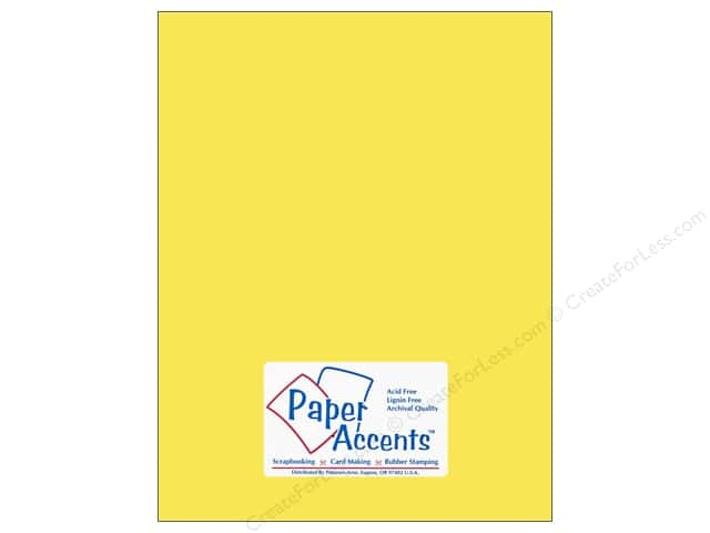 Cardstock 8 1/2 x 11 in. #117 Smooth Light Yellow by Paper Accents (25 sheets)