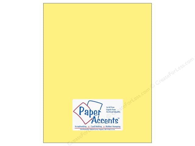 Paper Accents Cardstock 8 1/2 x 11 in. #169 Smooth Baby Yellow (25 sheets)
