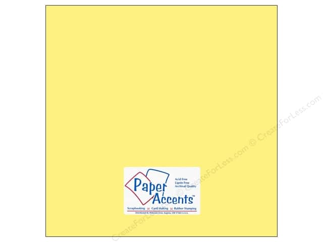 Paper Accents Cardstock 12 x 12 in. #169 Smooth Baby Yellow (25 sheets)