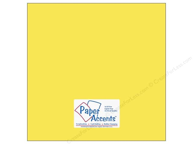 Cardstock 12 x 12 in. #117 Smooth Light Yellow by Paper Accents (25 sheets)