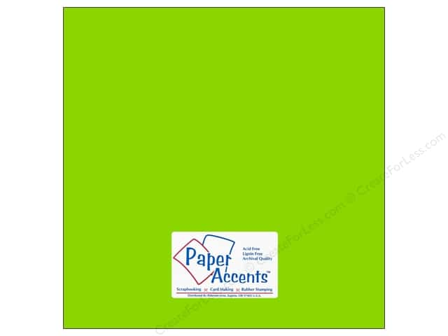Paper Accents Cardstock 12 x 12 in. #113 Smooth Lime Green (25 sheets)
