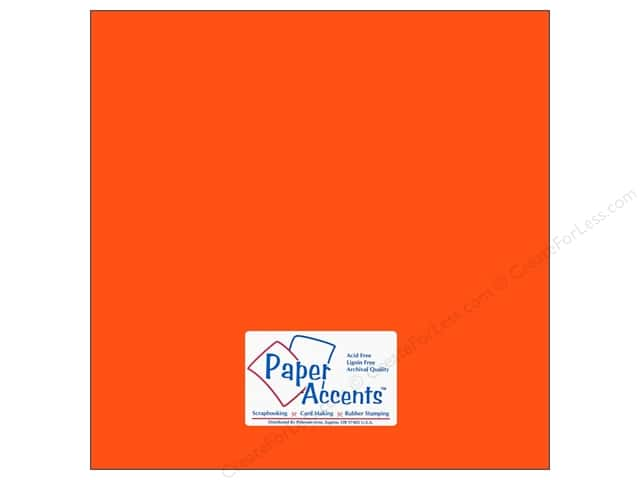 Paper Accents Cardstock 12 x 12 in. #109 Smooth Electric Orange (25 sheets)