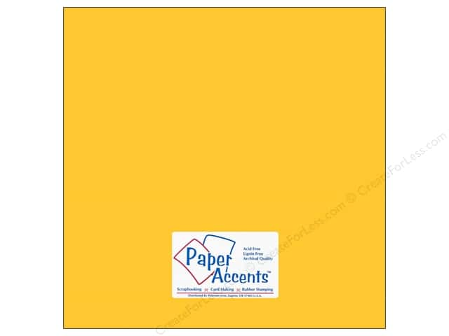 Paper Accents Cardstock 12 x 12 in. #105 Smooth Canary Yellow (25 sheets)