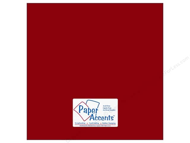 Cardstock 12 x 12 in. #10053 Stash Builder Crimson by Paper Accents (25 sheets)