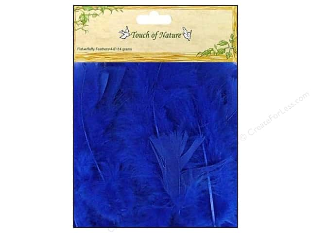 Midwest Design Turkey Flat Feathers 14 gm. 4 - 6 in. Blue