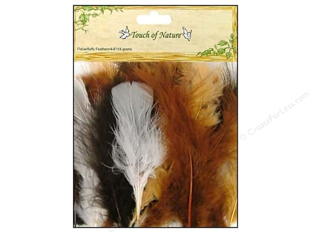 Midwest Design Turkey Flat Feathers 7 gm. 4 - 6 in. Natural