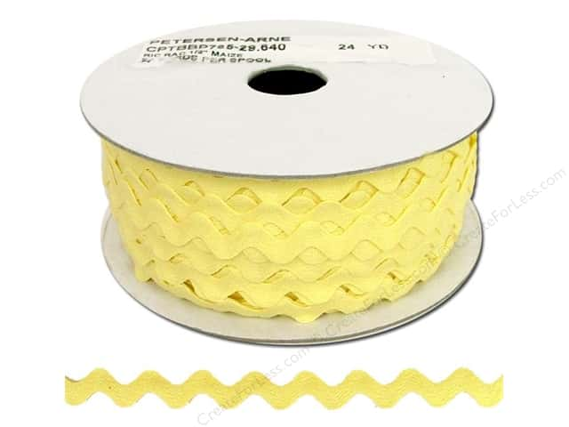 Cheep Trims Ric Rac 1/2 in. Maize