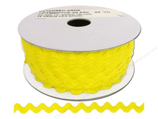 Cheep Trims Ric Rac 1/2 in. Yellow