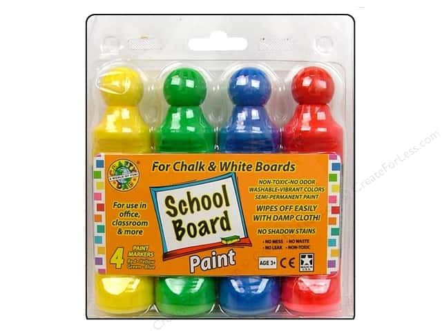 Crafty Dab School Board Paint Chalk/White 4pc