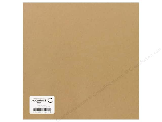 American Crafts 12 x 12 in. Cardstock Smooth Kraft (25 sheets)