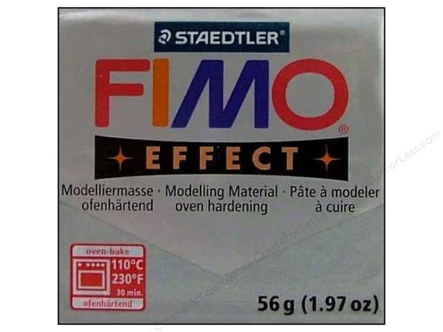 Fimo Soft Clay 2 oz. Metallic Silver